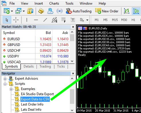 MetaTrader to FSB Data Export (Page 1) — Premium Club — Forex Forum